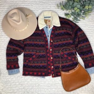 Vintage philmont by altiplano wool knit cardigan
